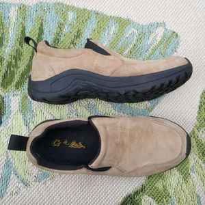 Cabela's Tan Suede Slip On Comfort Shoes Size 7.5
